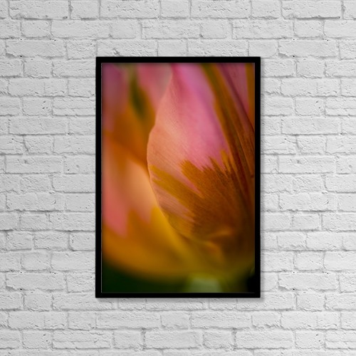 "Printscapes Wall Art: 12"" x 18"" Canvas Print With Black Frame - Flowers by Cathy Hart"