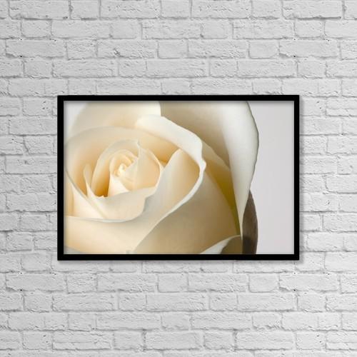 "Printscapes Wall Art: 18"" x 12"" Canvas Print With Black Frame - Flowers by Steven Raniszewski"
