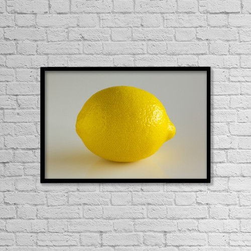 "Printscapes Wall Art: 18"" x 12"" Canvas Print With Black Frame - Lemon by Steven Raniszewski"