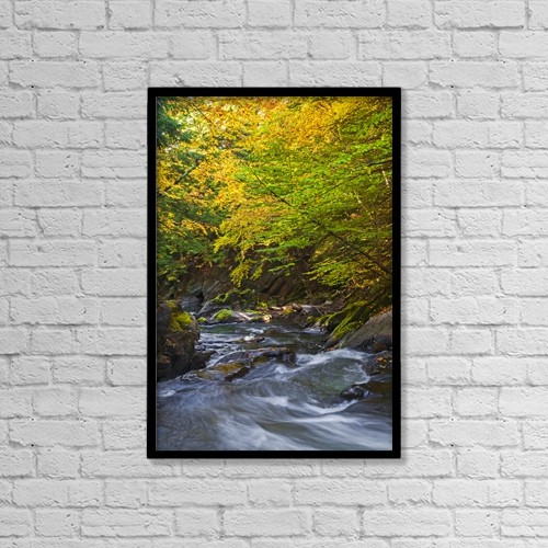 """Printscapes Wall Art: 12"""" x 18"""" Canvas Print With Black Frame - Scenic by David Chapman"""