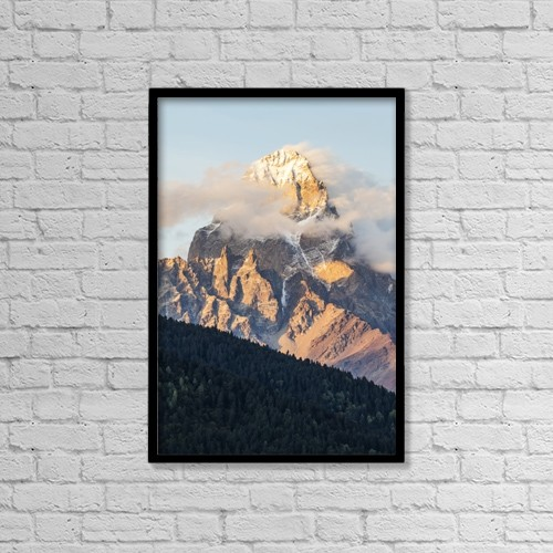 "Printscapes Wall Art: 12"" x 18"" Canvas Print With Black Frame - Scenic by Peter Langer"
