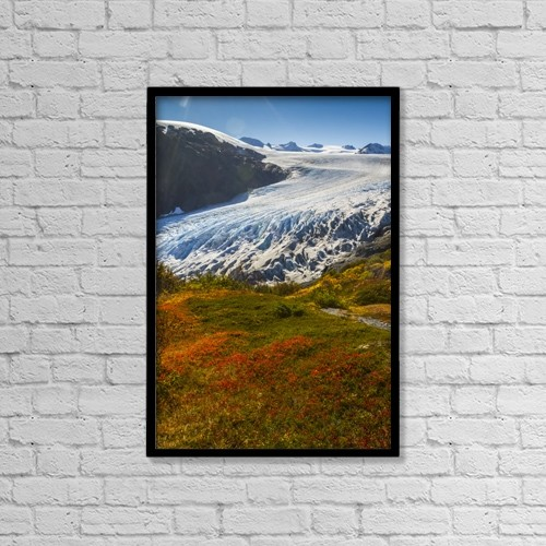 "Printscapes Wall Art: 12"" x 18"" Canvas Print With Black Frame - Weather by Doug Lindstrand"