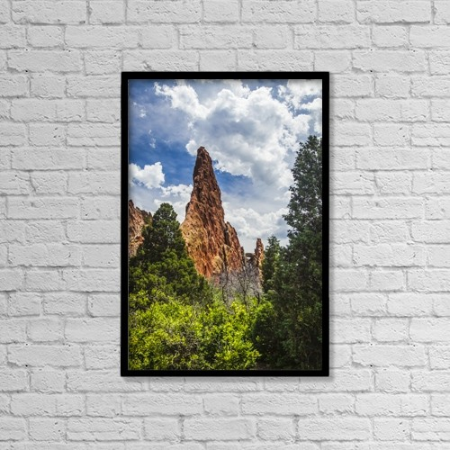 """Printscapes Wall Art: 12"""" x 18"""" Canvas Print With Black Frame - Garden Of The Gods by Blake Kent"""