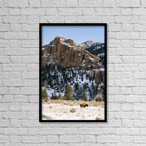 "Printscapes Wall Art: 12"" x 18"" Canvas Print With Black Frame - Scenic by Kenneth Whitten"