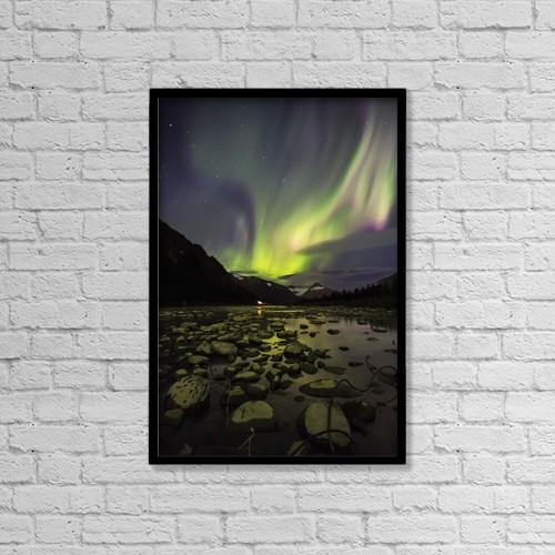 "Printscapes Wall Art: 12"" x 18"" Canvas Print With Black Frame - Astronomy by Ed Boudreau"
