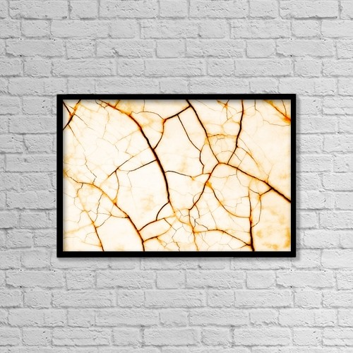 "Printscapes Wall Art: 18"" x 12"" Canvas Print With Black Frame - Cracked Surface by Corey Hochachka"