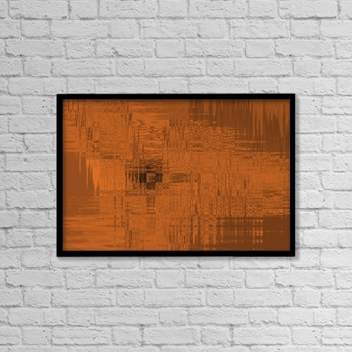 "Printscapes Wall Art: 18"" x 12"" Canvas Print With Black Frame - A Rust Colored Background by Tim Antoniuk"