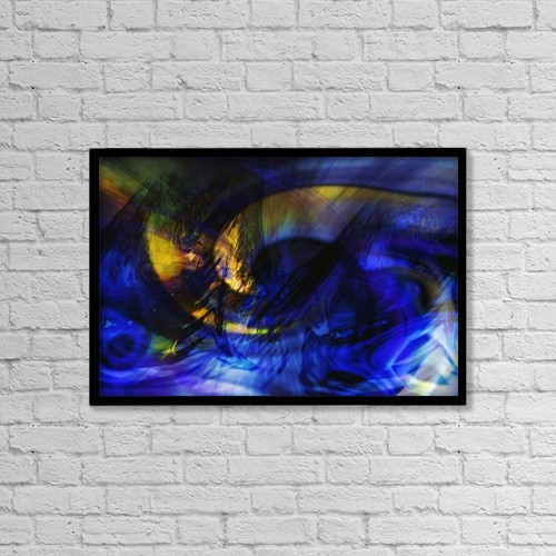 "Printscapes Wall Art: 18"" x 12"" Canvas Print With Black Frame - A Colorful Background by Tim Antoniuk"