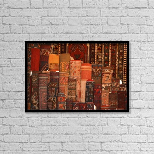 "Printscapes Wall Art: 18"" x 12"" Canvas Print With Black Frame - Carpet For Sale by Carson Ganci"