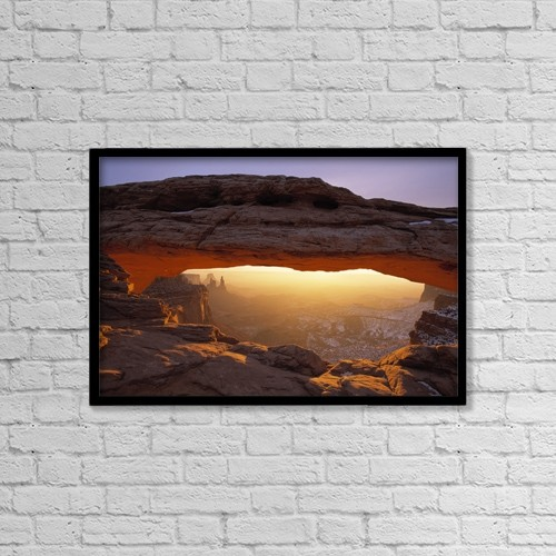 "Printscapes Wall Art: 18"" x 12"" Canvas Print With Black Frame - Scenic by Natural Selection Robert Cable"