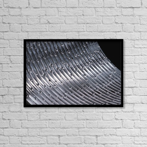 "Printscapes Wall Art: 18"" x 12"" Canvas Print With Black Frame - A Close-Up Of Metal by David Chapman"