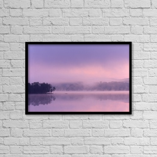 "Printscapes Wall Art: 18"" x 12"" Canvas Print With Black Frame - A Peaceful Water Mist by Alan Marsh"