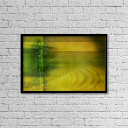"Printscapes Wall Art: 18"" x 12"" Canvas Print With Black Frame - Christ On Cross by Tim Antoniuk / Don Hammond"