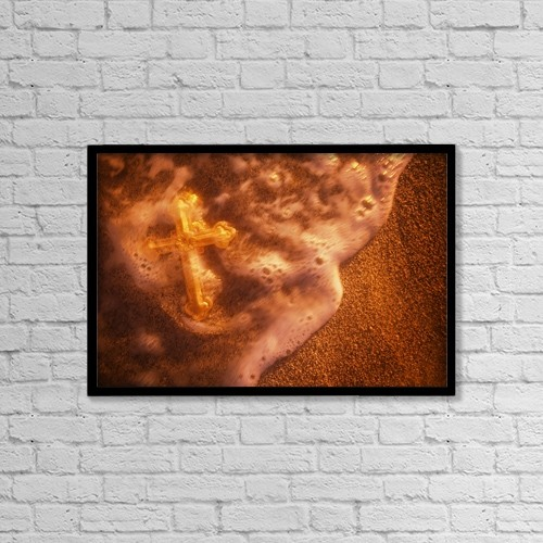 "Printscapes Wall Art: 18"" x 12"" Canvas Print With Black Frame - Christian Faith by Darren Greenwood"