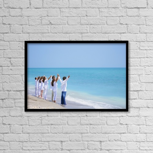 "Printscapes Wall Art: 18"" x 12"" Canvas Print With Black Frame - Christian Faith by Don Hammond"