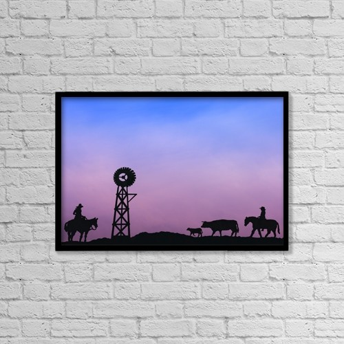 "Printscapes Wall Art: 18"" x 12"" Canvas Print With Black Frame - Lifestyle by Carson Ganci"