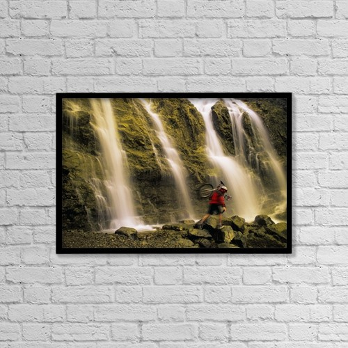"Printscapes Wall Art: 18"" x 12"" Canvas Print With Black Frame - Sports and Recreation by Don Hammond"