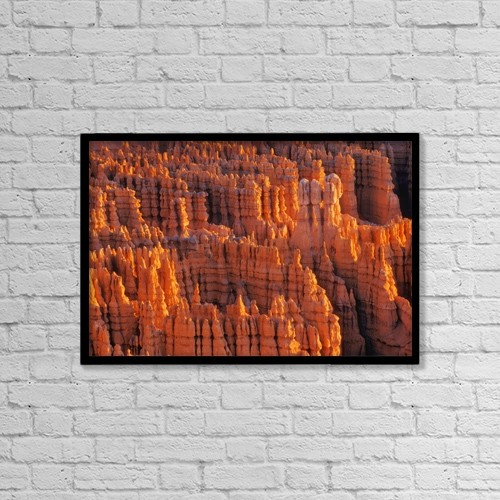 "Printscapes Wall Art: 18"" x 12"" Canvas Print With Black Frame - Rocky Canyon by Don Hammond"