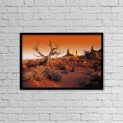 "Printscapes Wall Art: 18"" x 12"" Canvas Print With Black Frame - Scenic by Don Hammond"