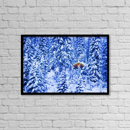 """Printscapes Wall Art: 18"""" x 12"""" Canvas Print With Black Frame - Other by Corey Hochachka"""