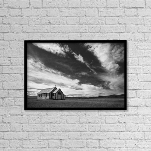 """Printscapes Wall Art: 18"""" x 12"""" Canvas Print With Black Frame - Religious by Darren Greenwood"""
