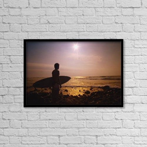 """Printscapes Wall Art: 18"""" x 12"""" Canvas Print With Black Frame - Scenic by Darren Greenwood"""
