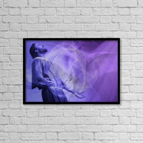 """Printscapes Wall Art: 18"""" x 12"""" Canvas Print With Black Frame - Holy Spirit Ascending by Don Hammond"""