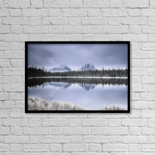 "Printscapes Wall Art: 18"" x 12"" Canvas Print With Black Frame - A Mountainous Scene by Carson Ganci"