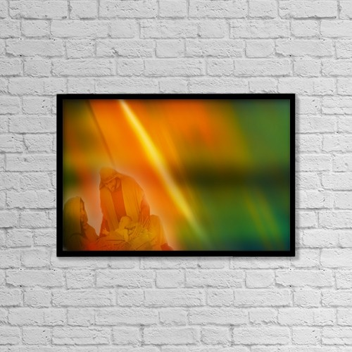 """Printscapes Wall Art: 18"""" x 12"""" Canvas Print With Black Frame - Joseph, Mary And Baby Jesus by Tim Antoniuk / Don Hammond"""