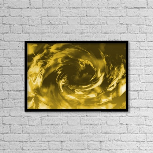 "Printscapes Wall Art: 18"" x 12"" Canvas Print With Black Frame - A Glossy Swirl by Tim Antoniuk"