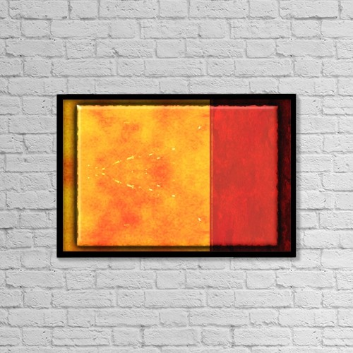 "Printscapes Wall Art: 18"" x 12"" Canvas Print With Black Frame - A Colorful Frame by Tim Antoniuk"