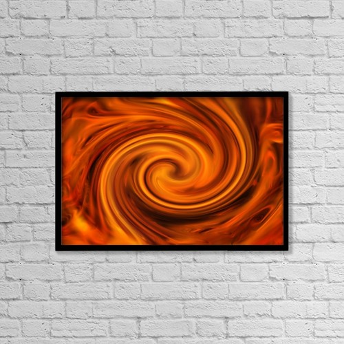 """Printscapes Wall Art: 18"""" x 12"""" Canvas Print With Black Frame - A Red Mixture by Tim Antoniuk"""