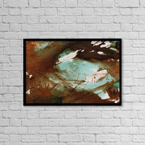 "Printscapes Wall Art: 18"" x 12"" Canvas Print With Black Frame - Jumble by Don Hammond"