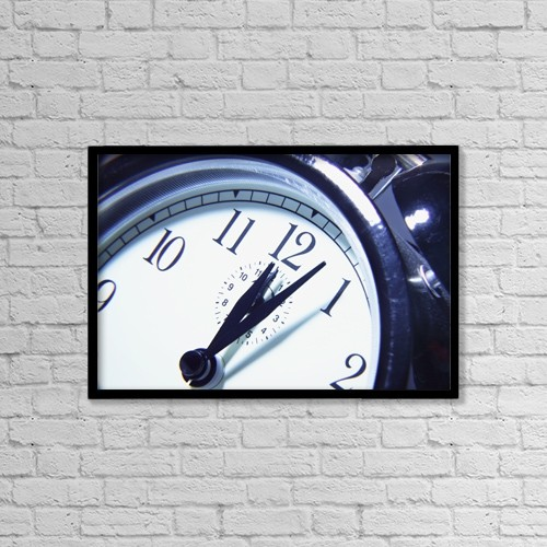 "Printscapes Wall Art: 18"" x 12"" Canvas Print With Black Frame - Time by Don Hammond"