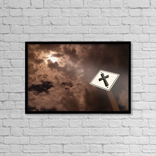 """Printscapes Wall Art: 18"""" x 12"""" Canvas Print With Black Frame - Christian Faith by Darren Greenwood"""