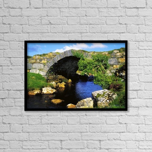 "Printscapes Wall Art: 18"" x 12"" Canvas Print With Black Frame - Roads by The Irish Image Collection"
