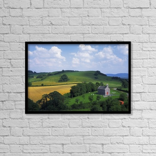 "Printscapes Wall Art: 18"" x 12"" Canvas Print With Black Frame - Stradbally, Co Laois, Ireland by The Irish Image Collection"