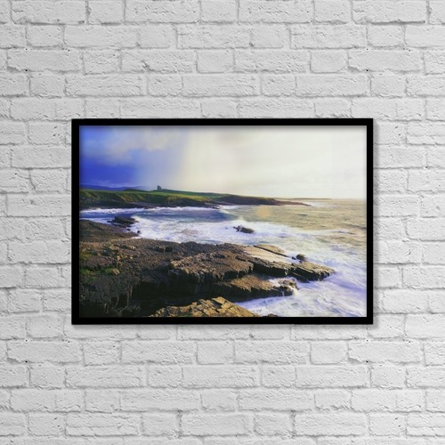 "Printscapes Wall Art: 18"" x 12"" Canvas Print With Black Frame - Mullaghmore, Co Sligo, Ireland by The Irish Image Collection"
