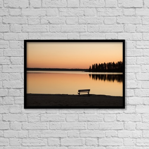 "Printscapes Wall Art: 18"" x 12"" Canvas Print With Black Frame - Scenic by Eryk Jaegermann"