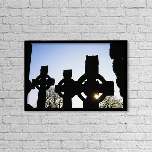 """Printscapes Wall Art: 18"""" x 12"""" Canvas Print With Black Frame - Christian Faith by The Irish Image Collection"""