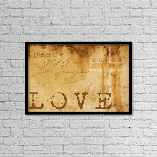 """Printscapes Wall Art: 18"""" x 12"""" Canvas Print With Black Frame - Faith Composite by Chris and Kate Knorr"""