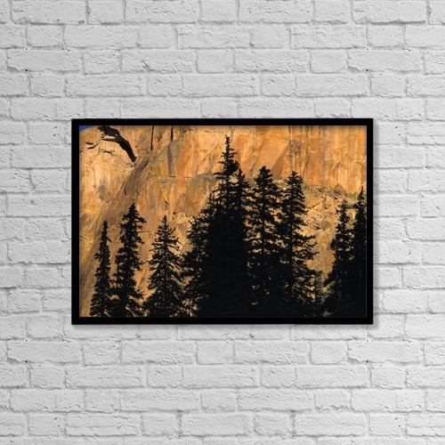 "Printscapes Wall Art: 18"" x 12"" Canvas Print With Black Frame - Scenic by Natural Selection David Ponton"