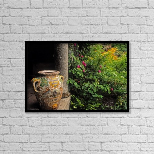 "Printscapes Wall Art: 18"" x 12"" Canvas Print With Black Frame - objects by The Irish Image Collection"