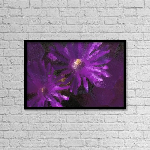 "Printscapes Wall Art: 18"" x 12"" Canvas Print With Black Frame - Flowers by Natural Selection Chris Pinchbeck"