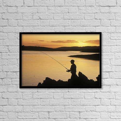 """Printscapes Wall Art: 18"""" x 12"""" Canvas Print With Black Frame - by The Irish Image Collection"""