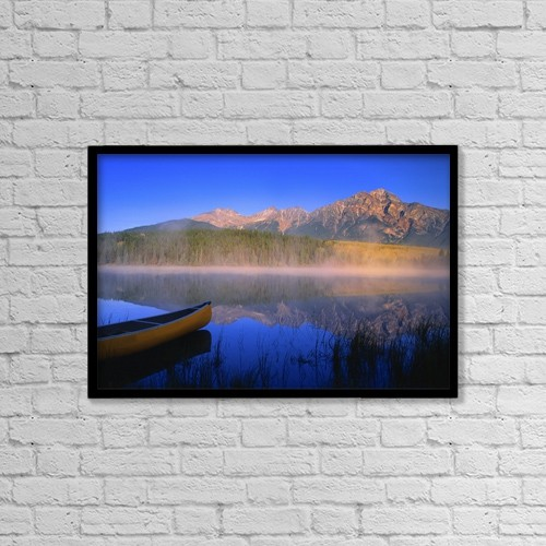 "Printscapes Wall Art: 18"" x 12"" Canvas Print With Black Frame - Jasper National Park In Alberta, Canada by Carson Ganci"