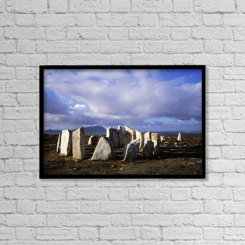"Printscapes Wall Art: 18"" x 12"" Canvas Print With Black Frame - Religious by The Irish Image Collection"