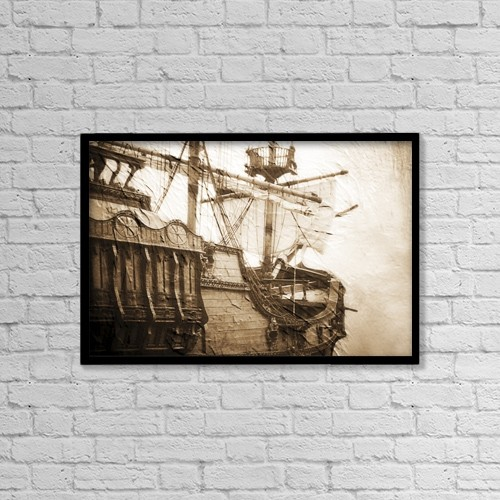 "Printscapes Wall Art: 18"" x 12"" Canvas Print With Black Frame - Ship by Chris and Kate Knorr"