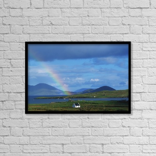 """Printscapes Wall Art: 18"""" x 12"""" Canvas Print With Black Frame - Weather by The Irish Image Collection"""