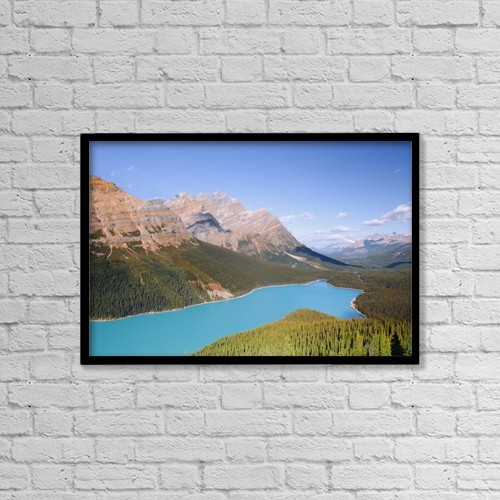 "Printscapes Wall Art: 18"" x 12"" Canvas Print With Black Frame - Scenic by Carson Ganci"